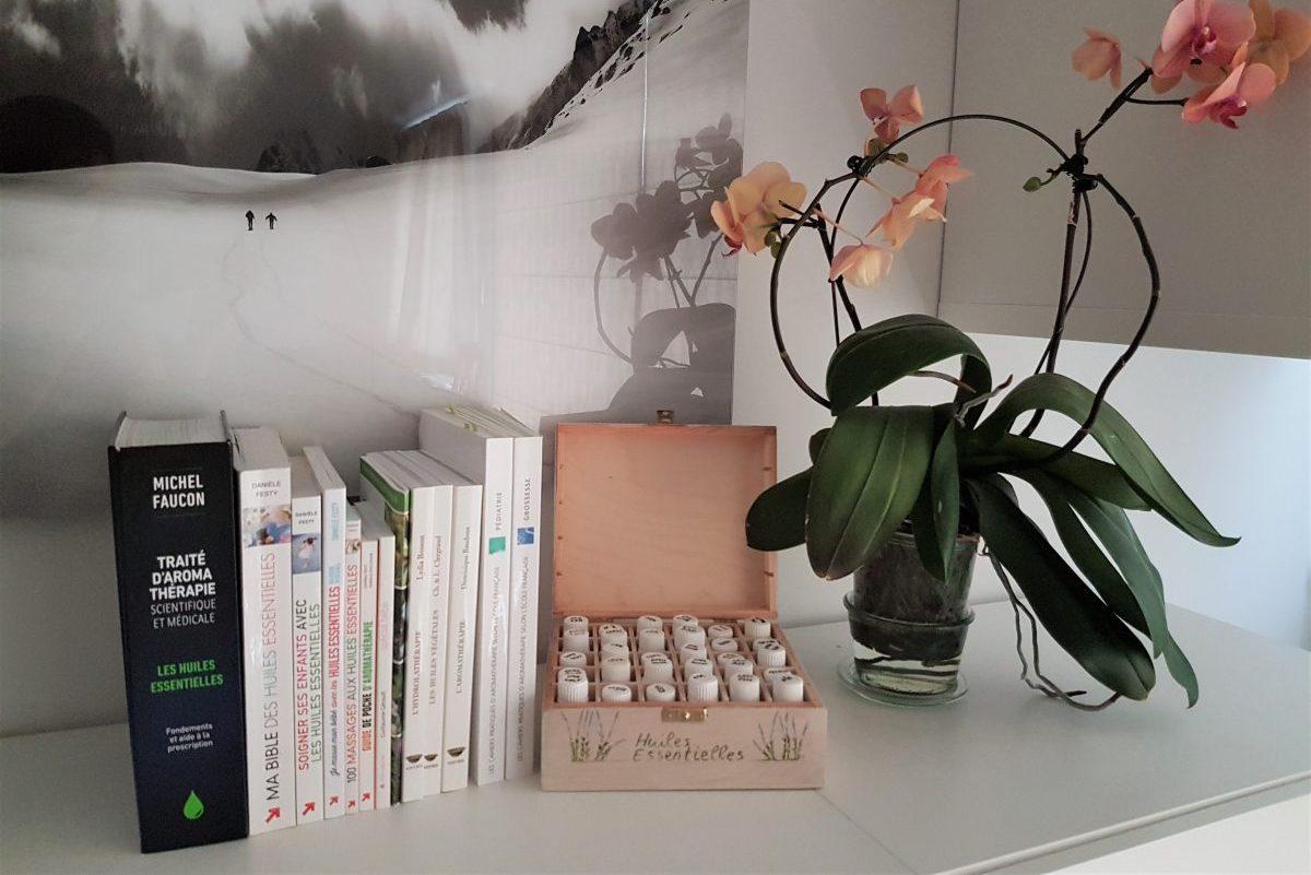 Livres d'aromathérapie et huiles essentielles